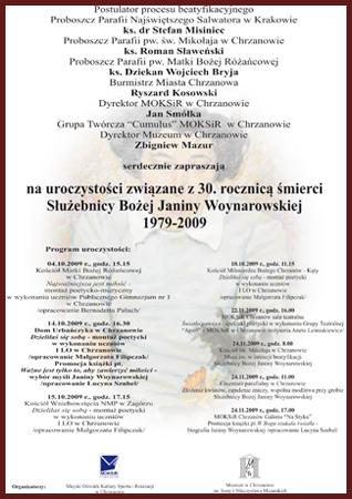 30 rocznica śmierci Janiny Woynarowskiej
