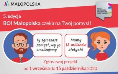 Zgłoś zadanie doBudżetu Obywatelskiego Małopolska izmień swoją okolicę!
