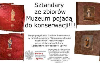 Sztandary zezbiorów Muzeum pojadą dokonserwacji!